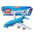 Самолет р/у со световыми и звуковыми эффектами, движение по всех направлениях, в коробке, 43х8х12,5см