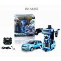 Робот-трансформер р/у (синий), звуковые и световые эффекты, в наборе с аккумуляторной батареей, 24.5x18.5x24.5см