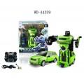 Робот-трансформер р/у (зеленый), звуковые и световые эффекты, в наборе с аккумуляторной батареей, 24.5x18.5x24.5см