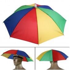 Зонт-шляпа радужный на голову